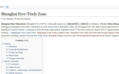 Shanghai Foreign Investment Zone – Wikipedia article