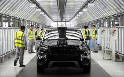 Jaguar Land Rover opens first engine plant in China.