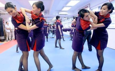 'Air rage tribe': Chinese cabin crew learn kung fu as mobs of 'unstable' passengers attack staff over flight delays